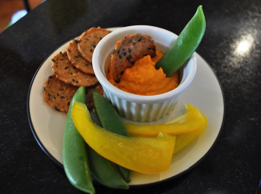 Roasted Butternut Squash Goat Cheese Dip & Roasted Squash Seeds